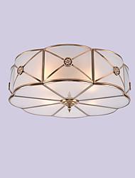 cheap -JLYLITE 4-Light 46 cm Mini Style Flush Mount Lights Metal Glass Oil-rubbed Bronze Modern Contemporary 110-120V / 220-240V / E26 / E27