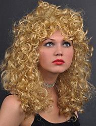 cheap -Synthetic Wig Water Wave Water Wave With Bangs Wig Blonde Medium Length Blonde Synthetic Hair Women's Blonde
