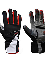 cheap -WEST BIKING® Winter Bike Gloves / Cycling Gloves Ski Gloves Mountain Bike MTB Thermal / Warm Waterproof Windproof Breathable Full Finger Gloves Sports Gloves Red Blue for Adults' Ski / Snowboard