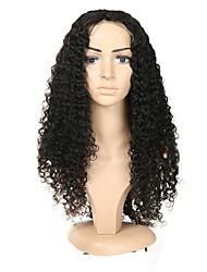 cheap -Remy Human Hair Full Lace Wig style Brazilian Hair Jerry Curl Wig 130% Density with Baby Hair Natural Hairline Pre-Plucked Women's Short Medium Length Human Hair Lace Wig ALIMICE