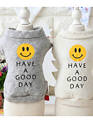 cheap -Dog Sweatshirt Dog Clothes Print White Gray Other Material Costume For Spring &  Fall Winter Men's Women's Casual / Daily