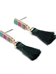 abordables -Femme Boucles d'oreille Clou Boucle d'Oreille Pendantes Mode Des boucles d'oreilles Bijoux Vert foncé Pour Quotidien Ecole