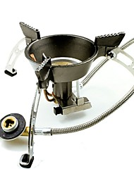 cheap -Camping Burner Stove Camping Gas Stove Outdoor Cookware Wearable Metalic for Outdoor Camping Silver