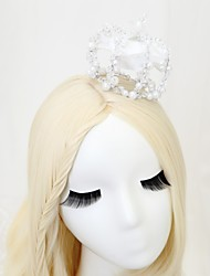 cheap -Chiffon / Crystal / Imitation Pearl Tiaras with 1pc Wedding / Special Occasion Headpiece