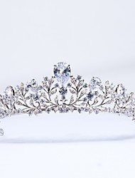 cheap -Cubic Zirconia / Copper Tiaras with / 1pc Wedding / Party / Evening Headpiece