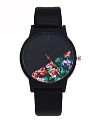 cheap -Men's Casual Watch Fashion Watch Unique Creative Watch Quartz Leather Black / Blue / Green Water Resistant / Waterproof Chronograph Casual Watch Analog Flower Elegant Christmas - Red Green Blue One