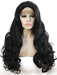 cheap -Synthetic Lace Front Wig Curly Curly Lace Front Wig Long Natural Black Synthetic Hair Women's Black StrongBeauty