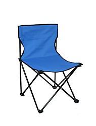 cheap -Camping Chair Foldable Folding Cloth Demin Carbon Steel for 1 person Beach Camping Autumn / Fall Spring Dark Blue