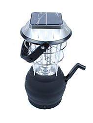 Недорогие -Походные светильники и лампы Аварийные лампы 200 lm Светодиодная лампа LED излучатели Автоматический Режим освещения Плотное облегание Солнечная энергия Походы / туризм / спелеология Черный