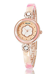 cheap -Women's Fashion Watch Bracelet Watch Simulated Diamond Watch Quartz Elegant Water Resistant / Waterproof White / Pink / Beige Analog - Light Blonde Rose Gold Gold / Imitation Diamond