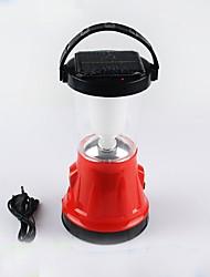 Недорогие -JR-799 Походные светильники и лампы 200 lm Светодиодная лампа LED излучатели Руководство Режим освещения с USB кабелем Простой Солнечная энергия Походы / туризм / спелеология Красный
