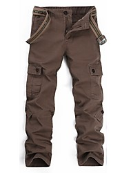 cheap -Men's Hiking Cargo Pants Winter Outdoor Wear Resistance Cotton Pants / Trousers Coffee Hiking Outdoor Exercise Multisport XXS XS S M L