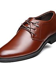 Недорогие -Муж. Комфортная обувь Кожа Весна / Осень Деловые Туфли на шнуровке Черный / Коричневый / Для вечеринки / ужина / Для вечеринки / ужина / EU40