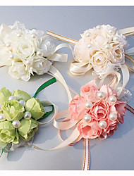 cheap -Wedding Flowers Wrist Corsages Wedding / Special Occasion Silk 0.39 inch