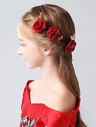 cheap -Flocked Hair Pin with Floral 1pc Wedding / Party / Evening Headpiece