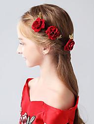 billige -Flocktrykt Papir Hair Pin med Blomster 1pc Bryllup / Fest / aften Medaljon