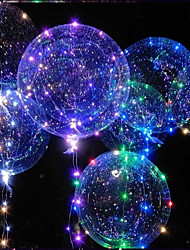 cheap -Led Balloon Transparent Helium Clear Luminous Balloons With Sticks Wedding Birthday Party Decorations Kids LED Light Balloon