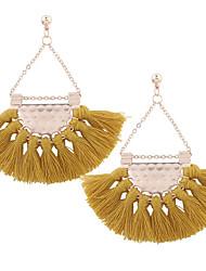cheap -Women's Drop Earrings Raffia Earrings Tassel Ladies Tassel Rose Gold Plated Earrings Jewelry Light Pink / Dark Green / Dark Navy For Daily Formal 2pcs