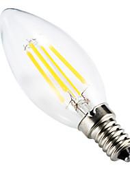 cheap -BRELONG 1 pc E14 4W Dimmable LED Filament Light Bulb AC110V /AC 220V Warm White