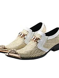 Недорогие -Муж. Официальная обувь Обувь для новинок Весна / Осень Винтаж Свадьба Для вечеринки / ужина Туфли на шнуровке Синтетика Ручная работа Белый