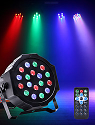 cheap -U'King Disco Lights Party Light LED Stage Light / Spot Light / LED Par Lights DMX 512 / Master-Slave / Sound-Activated Party / Stage / Wedding Professional Red Blue Green for Dance Party Wedding DJ