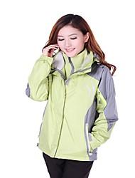 cheap -Women's Hiking Jacket Winter Outdoor Windproof Warm 3-in-1 Jacket Top Fleece Single Slider Hiking Climbing Ice Skating Sky Blue / Purple / Fuchsia / Orange / Green