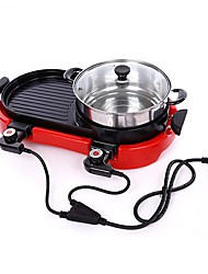 cheap -Camping Griddle Camping Stove Camping Burner Stove Outdoor Cookware 1 set Easy to Install for 3 - 4 person Metalic Outdoor Red