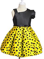 cheap -Kids Girls' Simple Casual / Daily Polka Dot Sleeveless Dress Red / Cotton