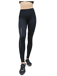 cheap -Women's Leggings Running Tights Sports Pants / Trousers Leggings Yoga Running Casual Stretchy Solid Colored Black