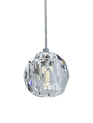 cheap -1-Light UMEI™ 11 cm Crystal Pendant Light Crystal Modern Contemporary 110-120V / 220-240V