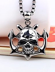 cheap -Men's Pendant Necklace Mexican Sugar Skull Skull Fashion Hip-Hop Satanic Alloy Silver Necklace Jewelry One-piece Suit For Carnival Going out