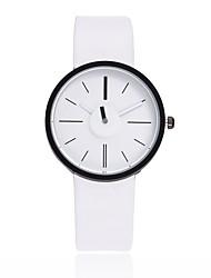 cheap -Men's Women's Wrist Watch Quartz Quilted PU Leather Black / White / Brown Casual Watch Analog Casual Bohemian Minimalist - Gray Coffee Pink One Year Battery Life / Jinli 377