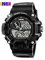 Недорогие -Муж. Жен. Спортивные часы электронные часы Цифровой силиконовый Черный 30 m Защита от влаги Календарь Фосфоресцирующий Цифровой На каждый день Мода Элегантный стиль - Красный Зеленый Синий