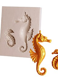 Недорогие -1шт кремнийорганическая резина силикагель Антипригарное покрытие Инструмент выпечки 3D Печенье Шоколад Для приготовления пищи Посуда Формы для пирожных Инструменты для выпечки