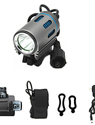 cheap -ANOWL LS5861-1 LED Light 1100 lm LED LED 1 Emitters 3 Mode with Battery and Charger Easy Carrying Camping / Hiking / Caving Everyday Use Diving / Boating Silver+Blue