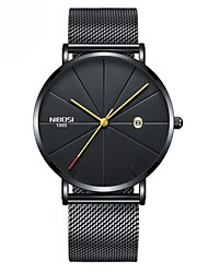 cheap -Women's Wrist Watch Japanese Quartz Stainless Steel Black / Silver / Gold Water Resistant / Waterproof Calendar / date / day Chronograph Analog Ladies Luxury Classic Casual Fashion - Gold / Black