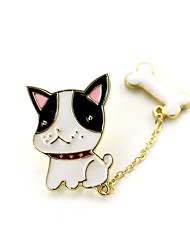 cheap -Women's Brooches Dog Animal Ladies Brooch Jewelry Black White / Black For Daily