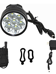 cheap -ANOWL 6668 LED Light 7000 lm LED LED 7 Emitters 3 Mode Easy Carrying Cycling / Bike Black