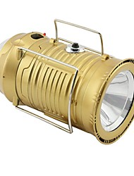 cheap -Lanterns & Tent Lights Emergency Lights 150 lm LED LED Emitters Automatic Mode Form Fit Camping / Hiking / Caving Gold