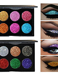 cheap -6 Colors Eyeshadow Palette Powders Shimmer EyeShadow Matte Shimmer Formaldehyde Free Glitter Shine smoky Convenient Daily Makeup Halloween Makeup Party Makeup Cosmetic Gift