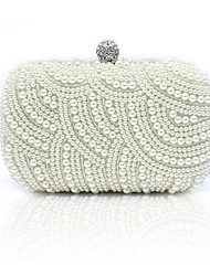 cheap -Women's Pearls Wood Evening Bag Champagne / White / Black