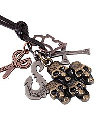 cheap -Men's Pendant Necklace Cross Skull Scissors Rock Gothic Fashion Alloy Bronze Necklace Jewelry One-piece Suit For Street Holiday