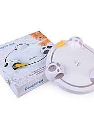 Недорогие -Дразнилки для кошек Кошка Котёнок 1 Электронная регулировка скорости 360 ° Вращение пластик Игрушки для животных зоотовары