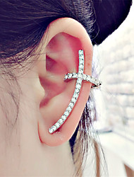 cheap -Women's Stud Earrings Clip on Earring Mismatched cuff Cross Ladies Classic Fashion Earrings Jewelry Gold / Silver For Evening Party Carnival 2pcs