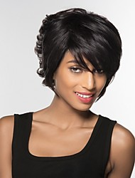 cheap -Human Hair Capless Wigs Human Hair Natural Wave Short Hairstyles 2019 Halle Berry Hairstyles Side Part Short Machine Made Wig Women's