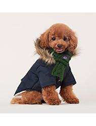 Недорогие -Кошка Собака Шарф для собаки Зима Одежда для собак Зеленый Красный Костюм Другие материалы Однотонный Стиль На каждый день Сохраняет тепло S L