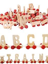 Недорогие -Игрушечные поезда и наборы Поезд Транспорт Взаимодействие родителей и детей деревянный Детские Мальчики Девочки Игрушки Подарок 28 pcs
