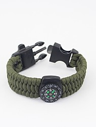 cheap -Paracord Bracelet Fire Starter Outdoor Nylon Fiber Camping / Hiking Outdoor Exercise Camping / Hiking / Caving Black Army Green Camouflage 1 pcs