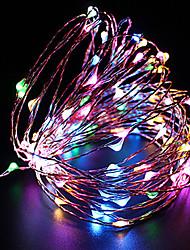 cheap -ZDM Waterproof 10M 100 LED USB 5V Fairy String Lights Firefly Lights Christmas Decor Christmas Lights Multi Color