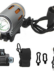 cheap -ANOWL LS5861-2 LED Light 1100 lm LED LED 1 Emitters 3 Mode with Battery and Charger Easy Carrying Camping / Hiking / Caving Everyday Use Diving / Boating Golden+Silver